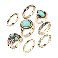 8 Piece Gypsy Ring Set -  Free People - Bohochic - Music Festival