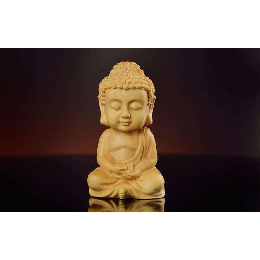 Solid Boxwood Carved Buddha,buddha,[product_vender],Mindful Bohemian