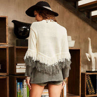 Grayscale Fringe Sweater -  Free People - Bohochic - Music Festival