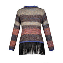 Stripe Fringed Sweater,ring,[product_vender],Mindful Bohemian