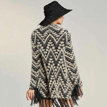 Geometric Tasseled Cardigan -  Free People - Bohochic - Music Festival