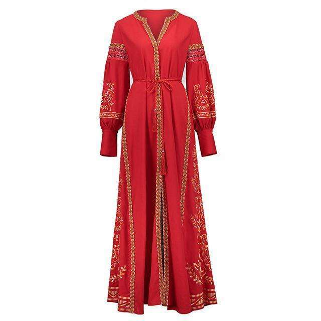 Red Moroccan Nights Dress,bohoartist,Mindful Bohemian,Mindful Bohemian