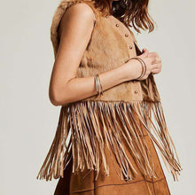 Faux Tasseled Ladies Vest -  Free People - Bohochic - Music Festival