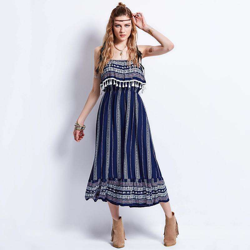 Thea Tasseled Dress,dress,[product_vender],Mindful Bohemian
