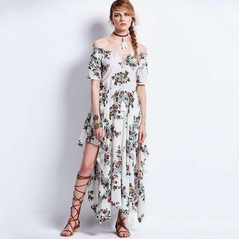Floral Twirling Dress -  Free People - Bohochic - Music Festival
