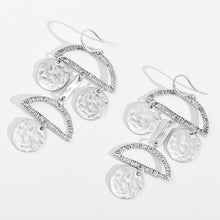 Disc & Round Alloy Dangle Earrings