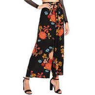 Japanese Floral High Waist Vacation Trousers,pants,[product_vender],Mindful Bohemian
