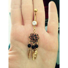 Dreamcatcher Belly Button Bar -  Free People - Bohochic - Music Festival