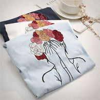 Pretty Mary Embroidered Harajuku Top,top,[product_vender],Mindful Bohemian