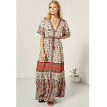 Gypsy Rosewood Print Rayon Maxi Dress -  Free People - Bohochic - Music Festival