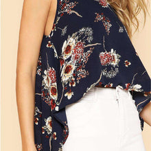 Floral Print Caped Blouse -  Free People - Bohochic - Music Festival