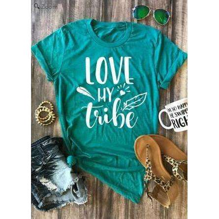 Love My Tribe TShirt,top,[product_vender],Mindful Bohemian