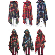 Hooded Poncho -  Free People - Bohochic - Music Festival