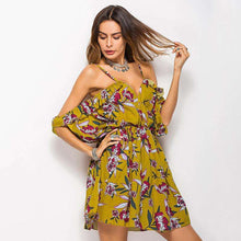 Shoulderless Bell Sleeve Floral Dreams Mini Dress,dress,[product_vender],Mindful Bohemian