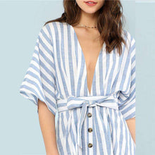 Button Front Striped Boating Dress -  Free People - Bohochic - Music Festival
