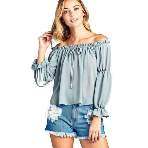Melise Front Tie Cold Shoulder Toptop