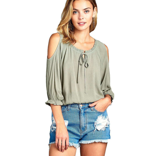 Serene Cold Shoulder Toptop