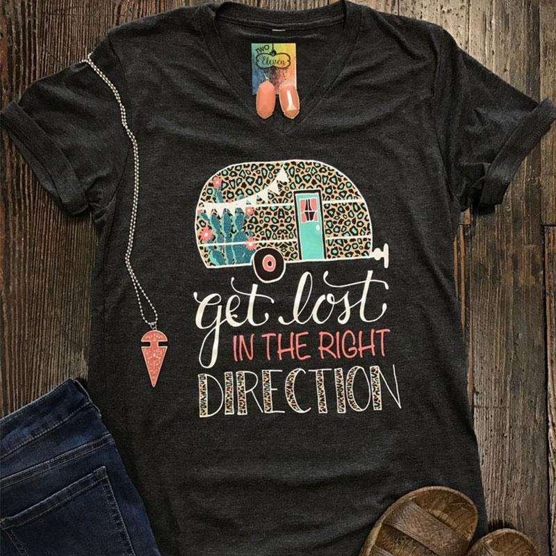 Get Lost In The Right Direction Graphic Tee -  Free People - Bohochic - Music Festival