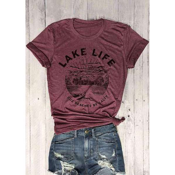 Lake Life Graphic Tee,tshirt,[product_vender],Mindful Bohemian