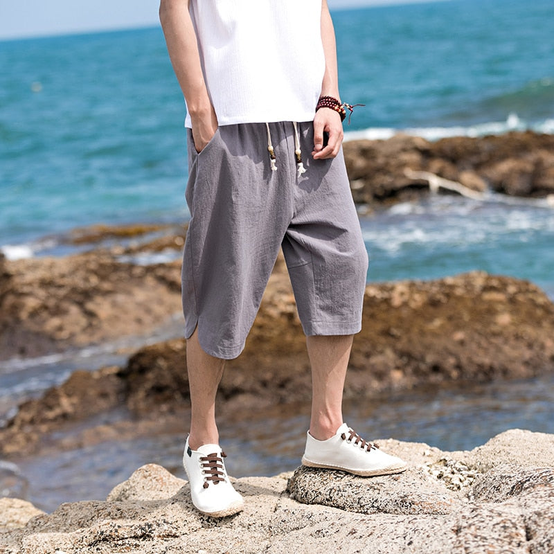 Men Casual Calf-Length Pants