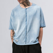 Washed Denim Loose Top