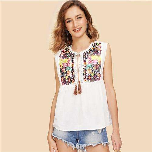 Bohemian Beach  Sleeveless Toptops
