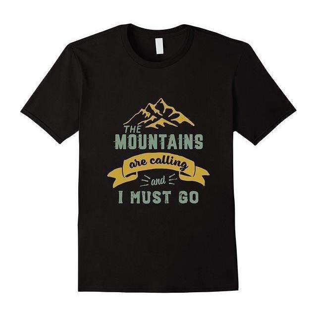 Mens The Mountains Are Calling & I Must Go Vintage Tshirt,mens,Mindful Bohemian,Mindful Bohemian