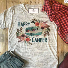 Boho Happy Camper Graphic Tee -  Free People - Bohochic - Music Festival