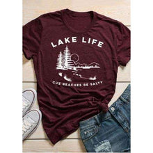 Lake Life Beaches Be Salty TShirttshirt