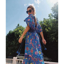 Retro Floral Maxi Dressdress