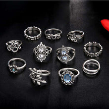 Lotus, Elephant and Flowers Midi Ring Set,accessories,[product_vender],Mindful Bohemian