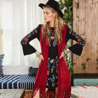 Red Tassel Vest,jacket,[product_vender],Mindful Bohemian