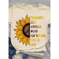 Freedom Sunflower Peace Sign Hippie Topshirt