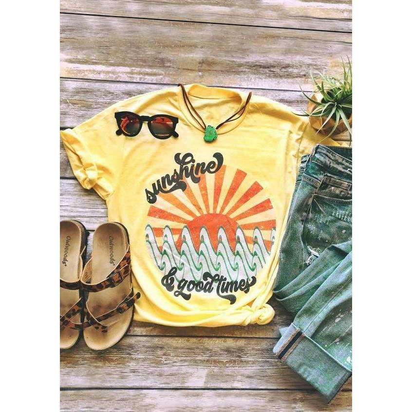 Sunshine & Good Times Top,top,[product_vender],Mindful Bohemian