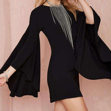Flared Bell Sleeve Black Mini Dress -  Free People - Bohochic - Music Festival
