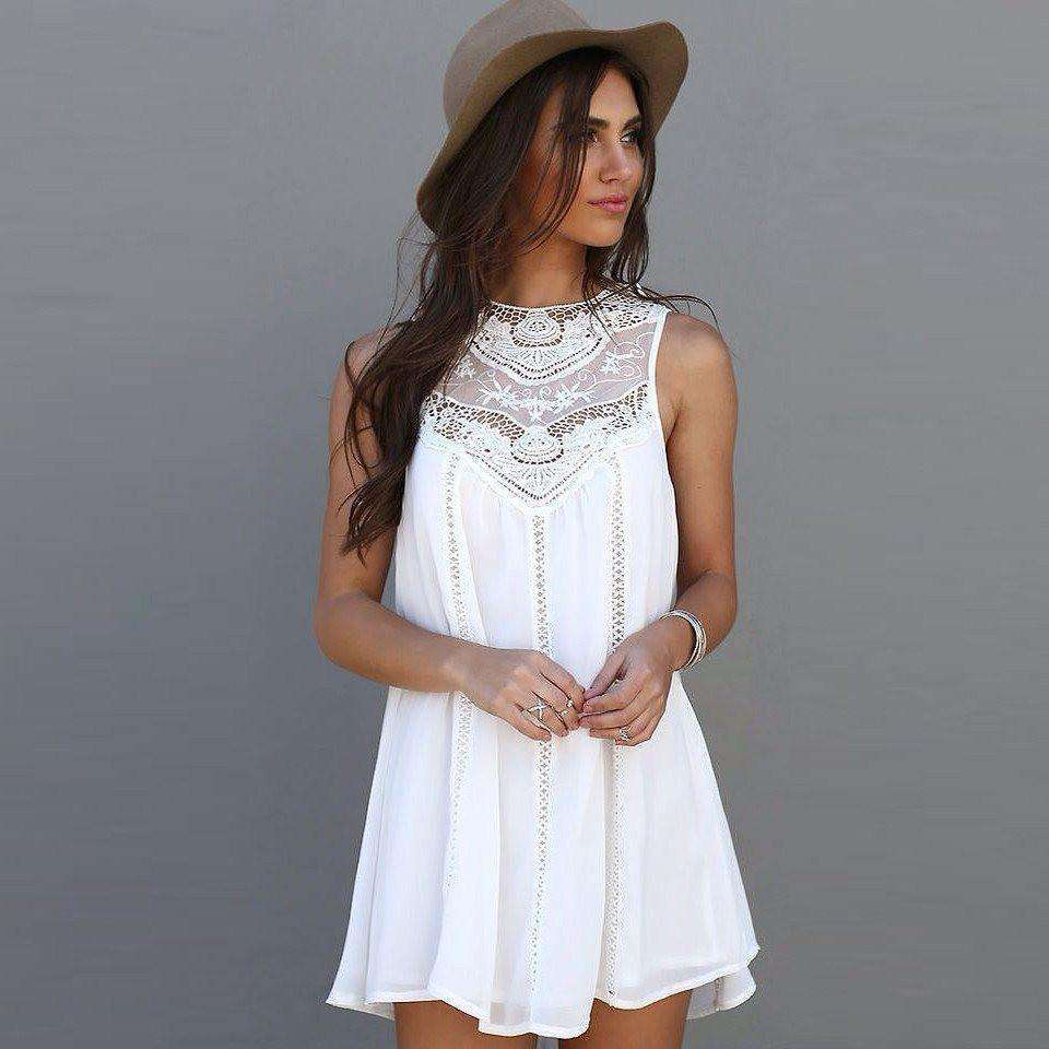 White Boho Princess Top - Mindful Bohemian