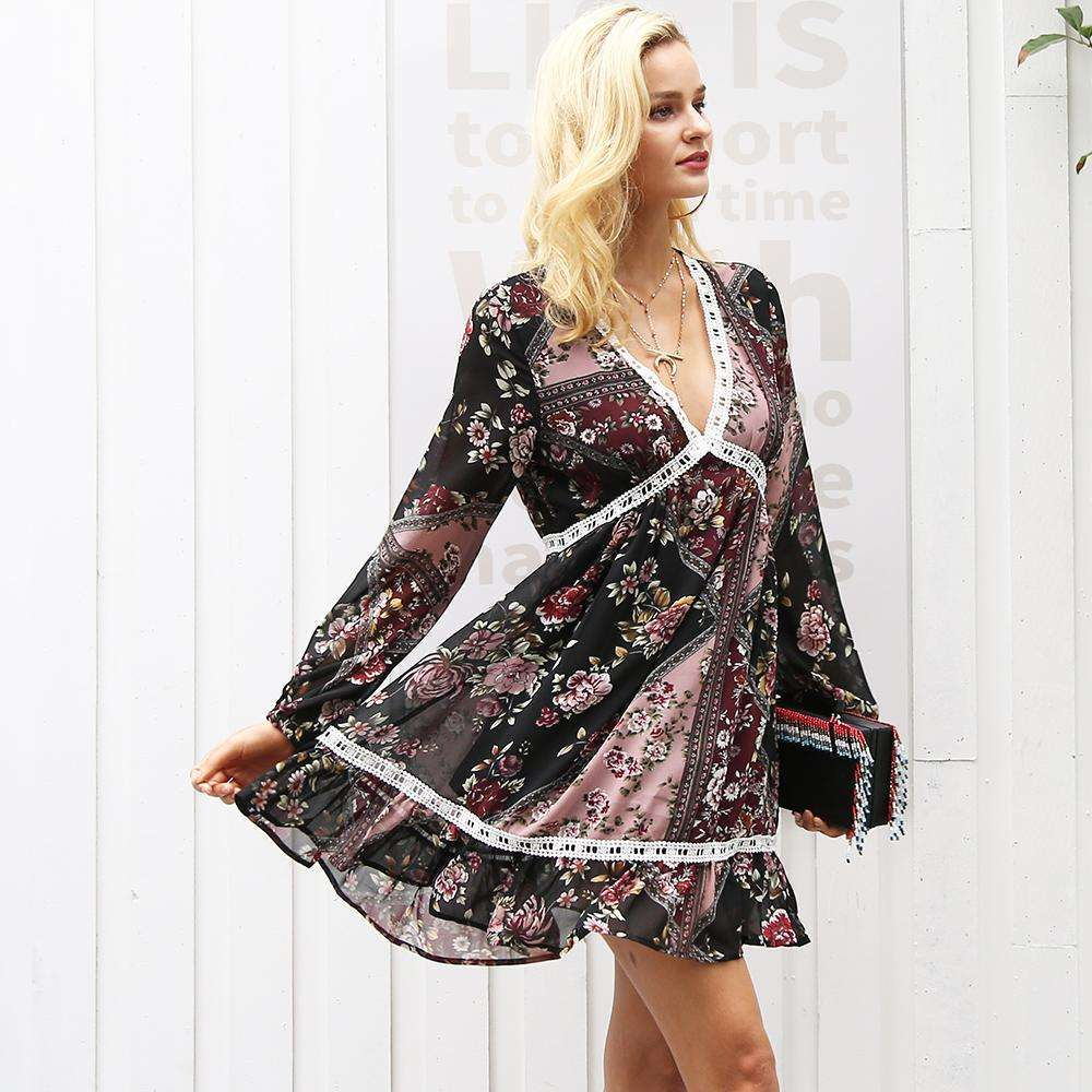 Love Spell Mini Gypsy Dress,dress,[product_vender],Mindful Bohemian