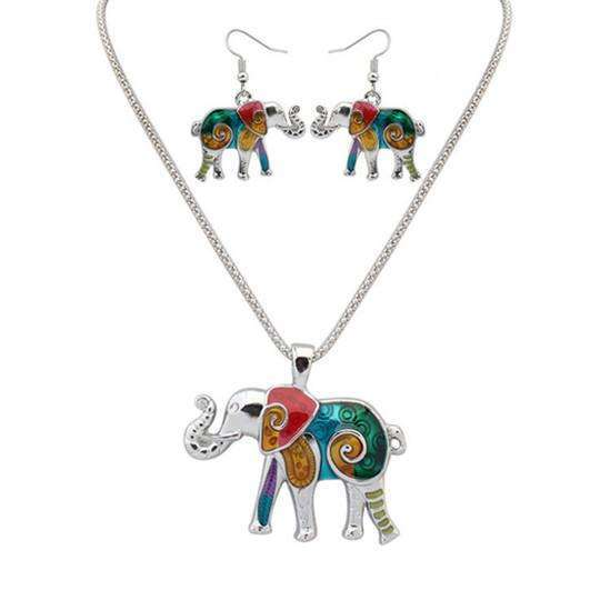 Elephant Hippie Pendant Setaccessories