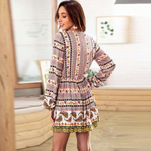 Floral Ethnic Tasseled Minidress