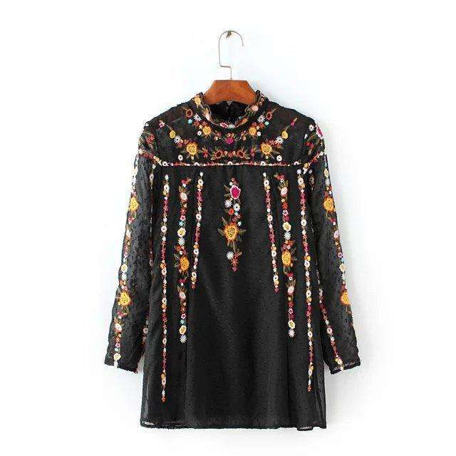 Floral Embroidered Free People Topblouse