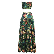 Floral Boho Bandeau & Long Skirt Set