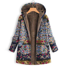 Plush Fluffy Floral Hoodiejacket