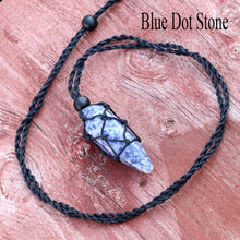 Hemp Wrapped Crystal Necklace