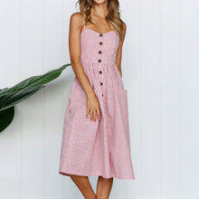 Casual Buttoned Sundress