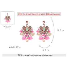 Tasseled Eye Drop Earrings