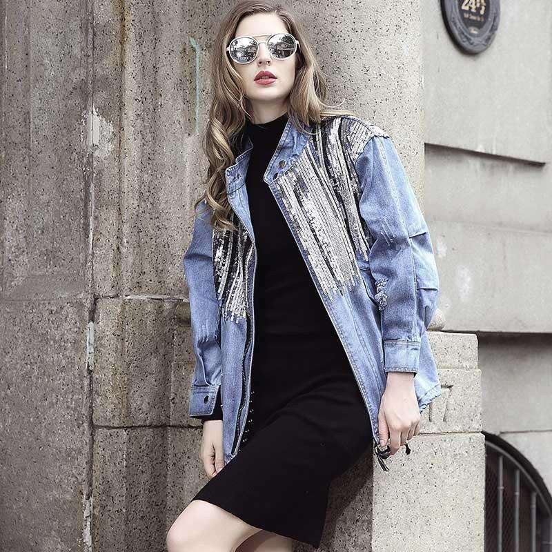 Sequin 70s Denim Jacket,jacket,[product_vender],Mindful Bohemian