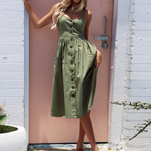Buttoned Pocket Sundress