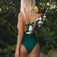 Mono Shoulder Ruffle Swimsuit