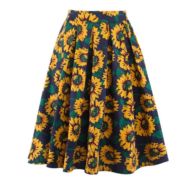 Sunflower Vintage Pleated Skirt