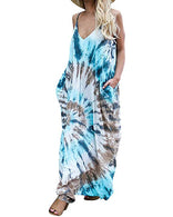 Tye Dye Hippie Chic Long Dress